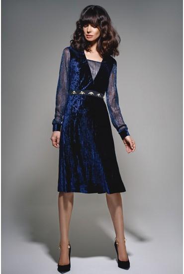 Платье из бархата М-671