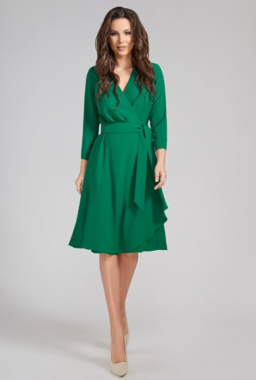 Зеленое платье  М-10-77