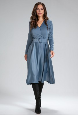 Платье с поясом М-12-57