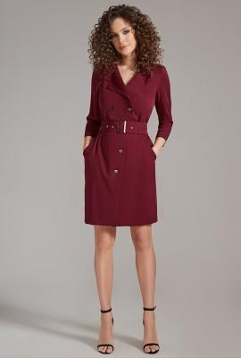 Платье с поясом 83-77