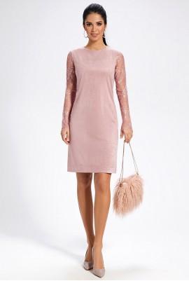 Розовое платье М-1469
