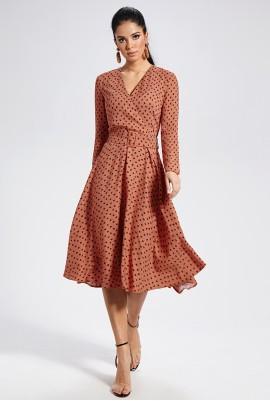 Платье с поясом М-1470