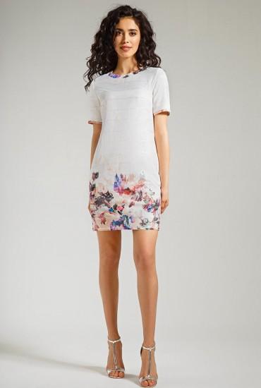 Платье с цветочным принтом М-520