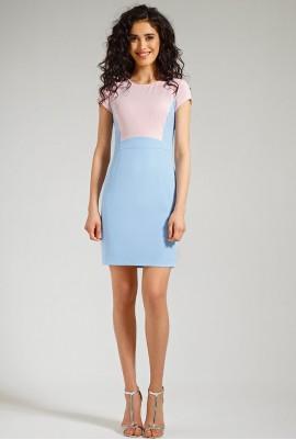 Платье нежных оттенков М-559