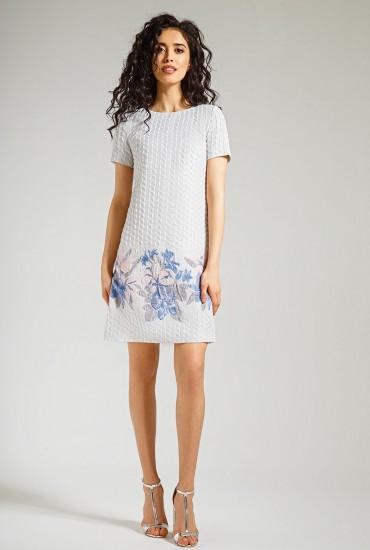 Платье с цветочным принтом М-565