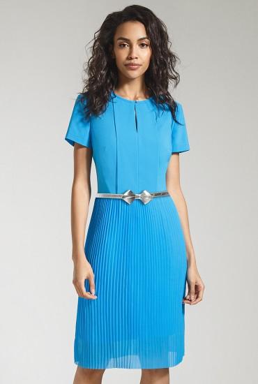 Платье из плиссированного шифона М-763