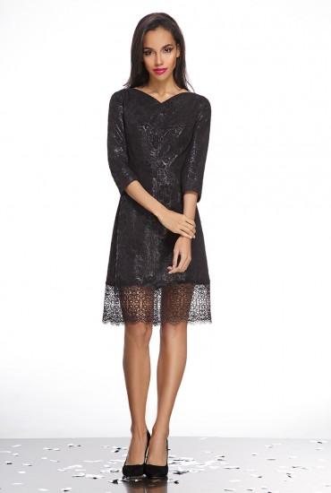 Вечернее черное платье М-473