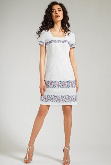 Платье с цветочным принтом М-585