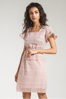 Платье с баской  М-790