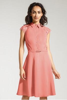 Платье с гипюром  М-819