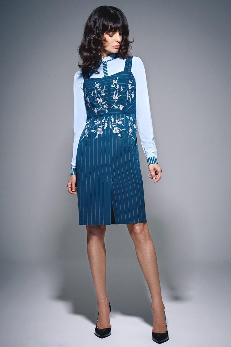 Комплект из сарафана и блузы  М-663